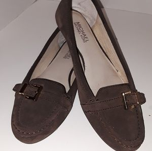 Michael Kors Brown Suede Loafers 8M